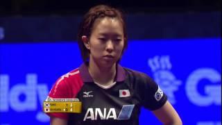 【グランドファイナル2016】女子シングルス決勝トーナメント準々決勝  石川佳純vsヤン ハウン(韓国)