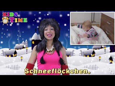 Schneeflöckchen Weißröckchen | Kinderlied mit Text | Njemačke pjesme za djecu