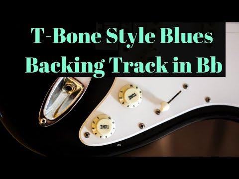 T-Bone Style Blues Backing Track in Bb (110 BPM)
