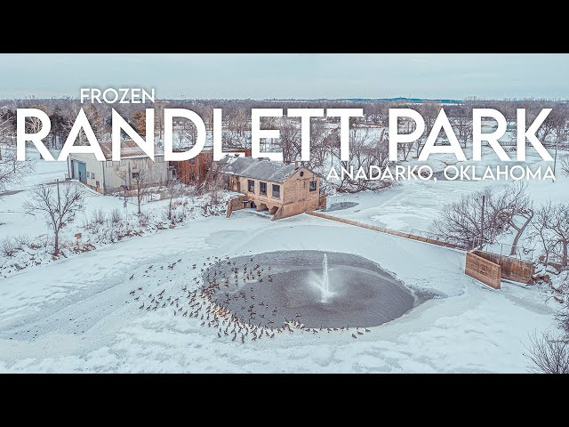 FROZEN Randlett Park / Anadarko, OK / Drone Footage / February 16, 2021