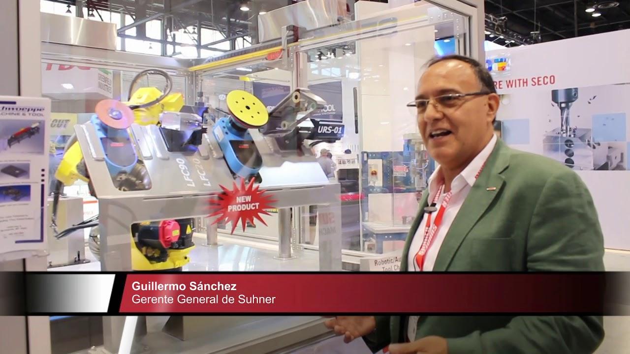 Suhner exhibió un sistema para hacer barrenados múltiples en un solo tiro