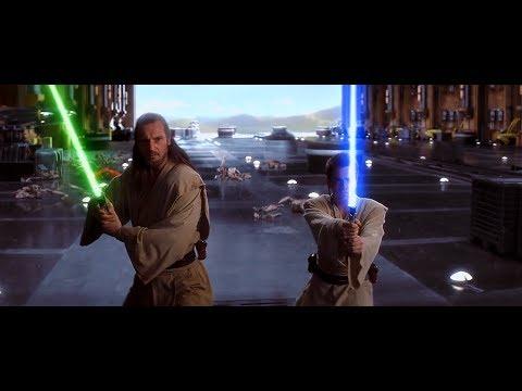 스타워즈(Star Wars) - 다스 몰 VS 콰이곤 진, 오비완 케노비 라이트세이버 대결 장면 (1)