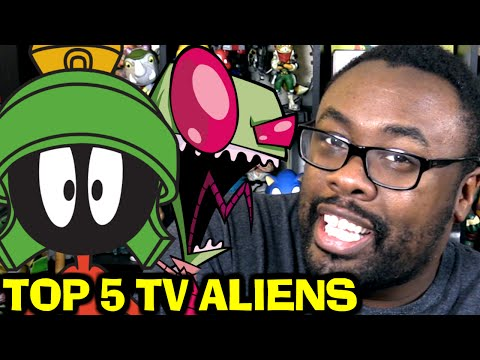TOP 5 TV ALIENS from Cartoons & Retro TV