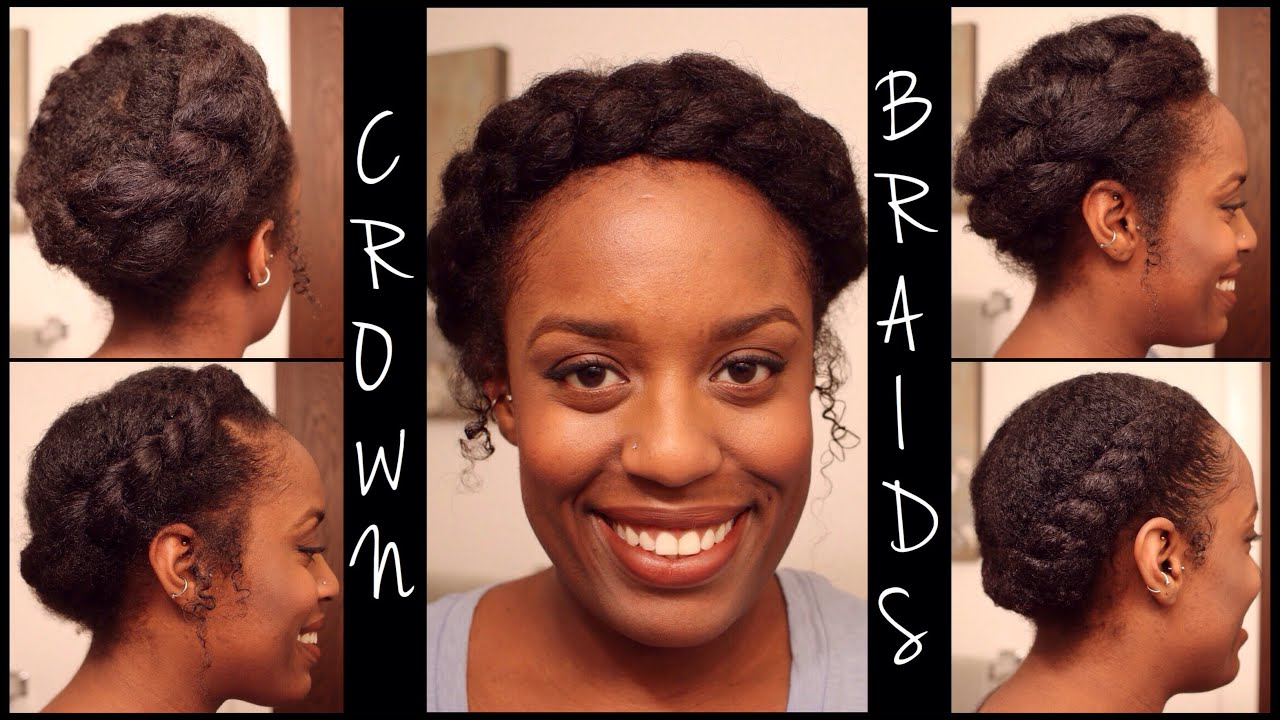 5 Crown Braids Easy Protective Styles Natural Hair Parisin85