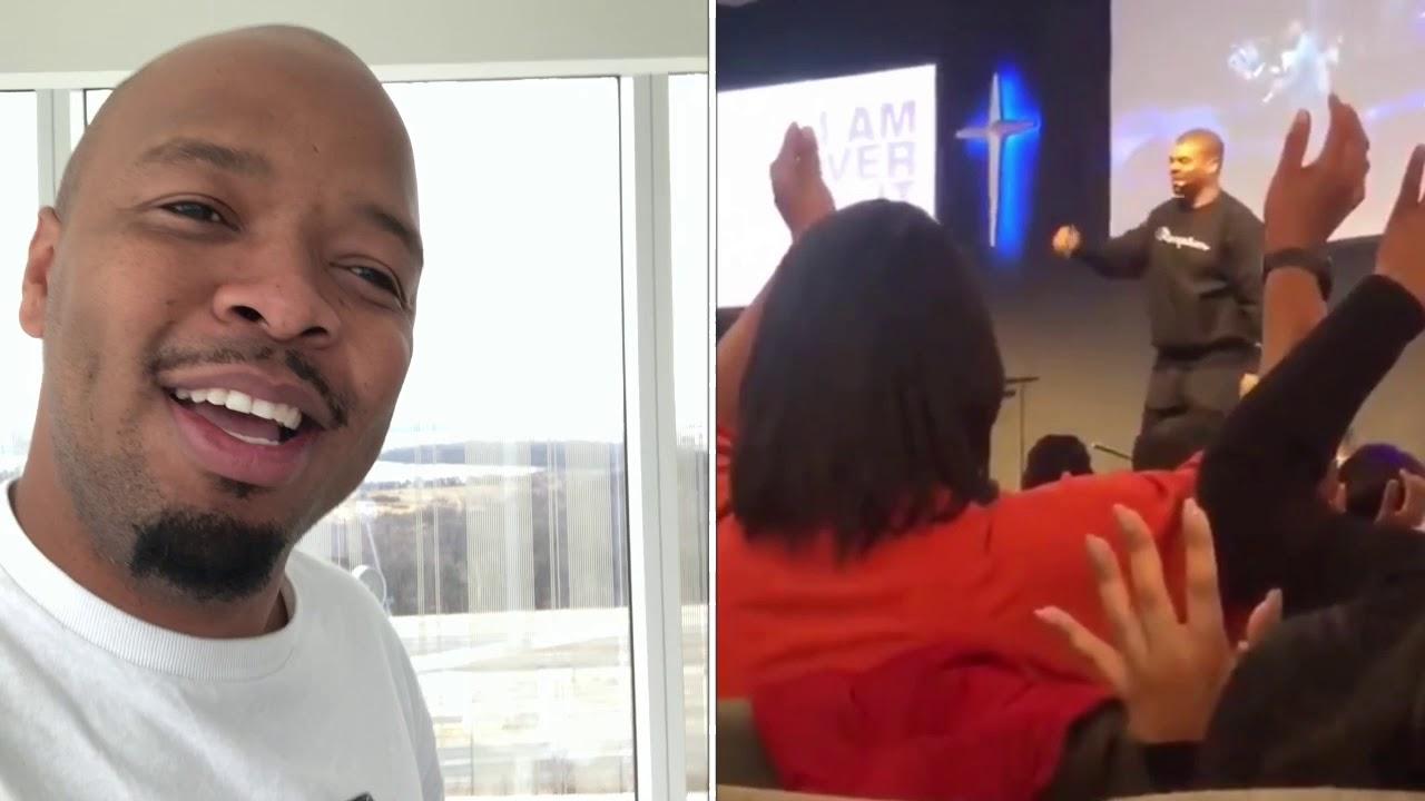 Pastor falls HARD