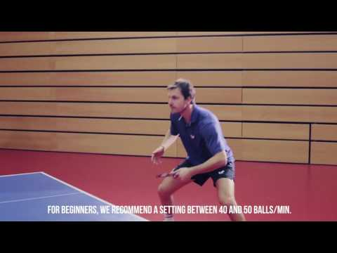 Tutorial with Timo Boll: Butterfly AMICUS table tennis robot