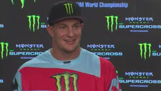 Rob Gronkowski Attempts To Avoid Football Questions During Supercross Press Conference