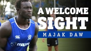 January 23, 2015 - Majak Daw Returns To Training