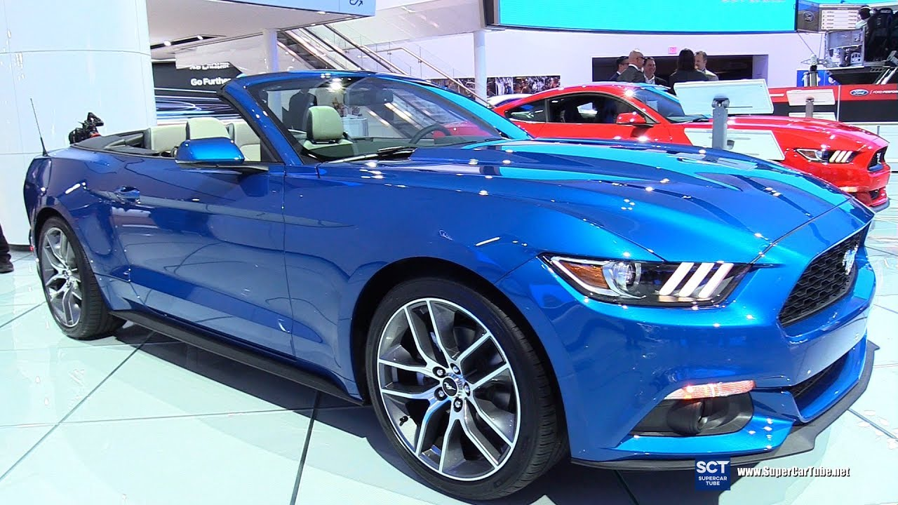 2017 ford mustang convertible exterior and interior walkaround 2017 detroit auto show youtube. Black Bedroom Furniture Sets. Home Design Ideas