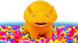 Aprender los colores con Dino el Dinosaurio y los balones | Aprender los colores en español
