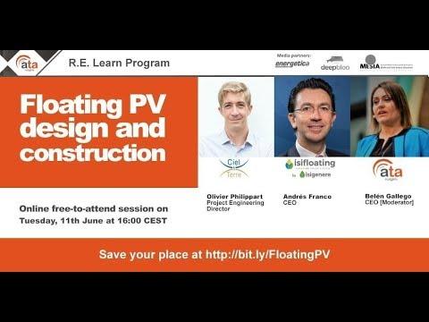 Webinar: Floating PV design and construction