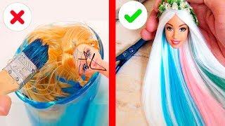 Красивые Прически Для Барби ♕Топ удивительных и красивых причесок для кукол ???? / Видео