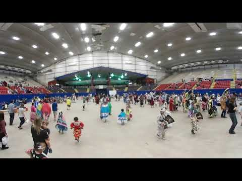 Audience participate in the dance @ Austin Powwow in Travis County Expo Center 360 Virtual Video
