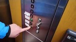 Old modernized Kone traction elevator/lift in Hotel Emilia, Hämeenlinna