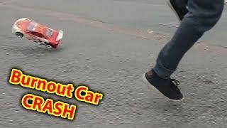 RC Burnout Car Speed Run FAIL - GPS how fast?