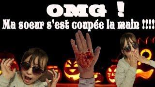 OMG ! Ma sœur s'est coupée la main !! Maquillage Halloween plaie infectée !