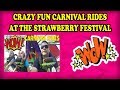 We take a break from Carnival Games for FUN Carnival Rides! Crazy Fair rides TORNADO   CLIFF HANGER