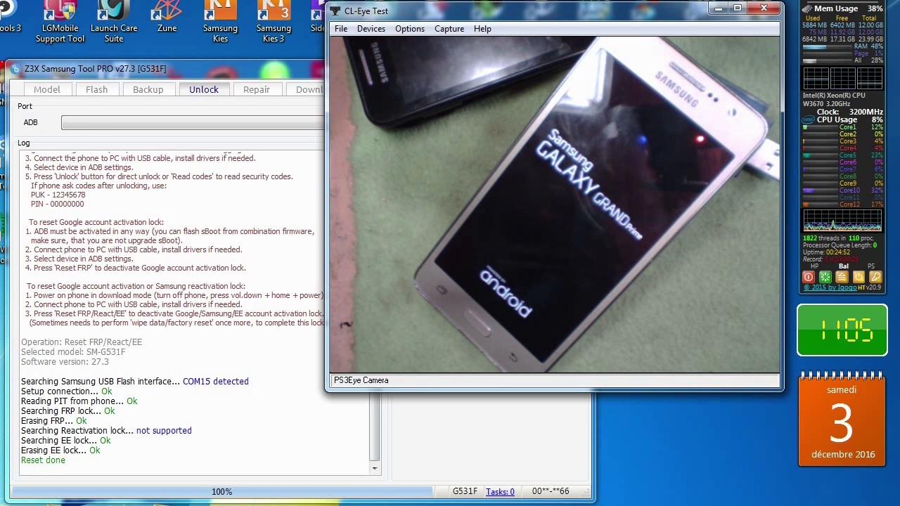samsung grand prime sm g531f reset frp lock box z3x