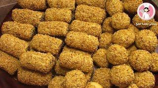 أصابع التمر بالسمسم الهشة و اللذيذة حلويات العيد مع رباح محمد ( الحلقة 288 )