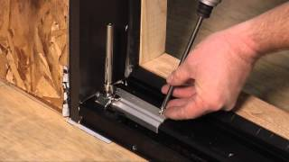 how to install a w 4500 folding door system