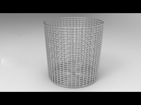 How to make a simple mesh basket using 3ds max | For Beginners