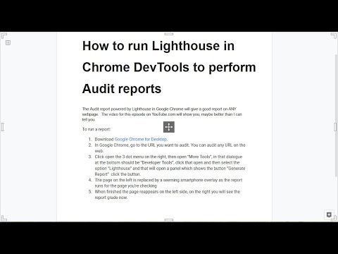 How to run Lighthouse in Chrome DevTools to perform Audit reports