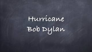 Hurricane-Bob Dylan Lyrics