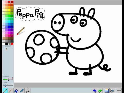 Peppa Pig online coloring Pages – peppa pig online games - YouTube