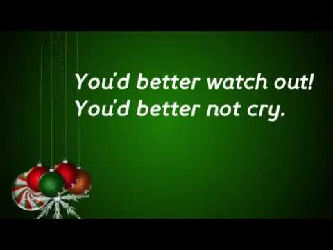 Santa Claus is coming to town Lyrics  Children version