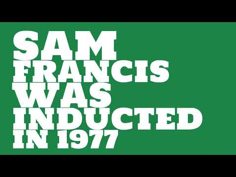 When was Sam Francis inducted into the College Football Hall of Fame?