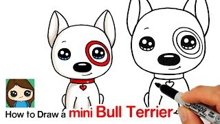 How to Draw a Mini Bull Terrier Dog | Target Bullseye