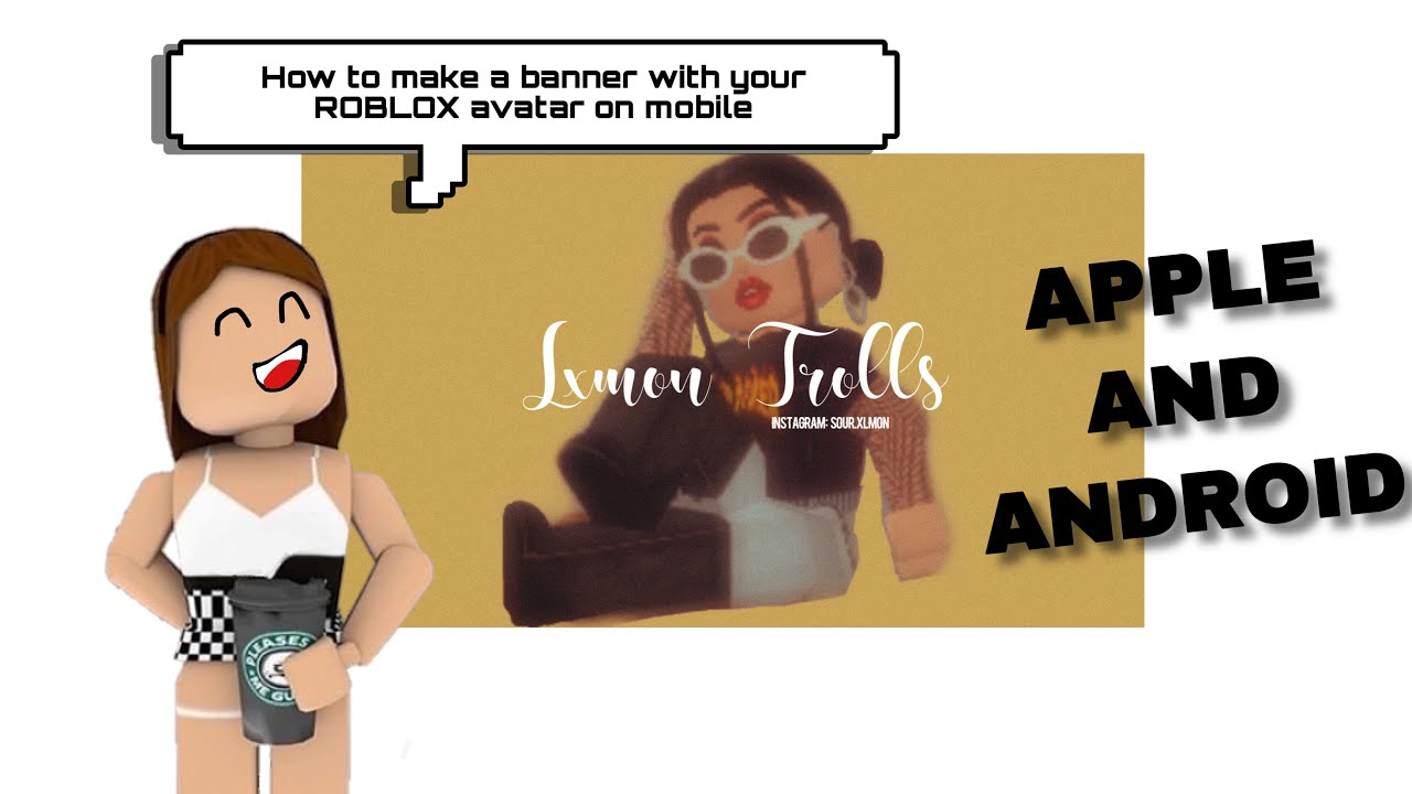 How To Make A Youtube Banner Channel Art With Your Roblox Avatar
