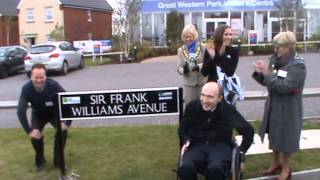 Sir Frank Williams Avenue unveiling October 2012