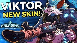 VIKTOR FULL MOON GAMEPLAY! Double Burst Grenade Build! Viktor Shrapnel Gameplay (Paladins 1.6 Patch)