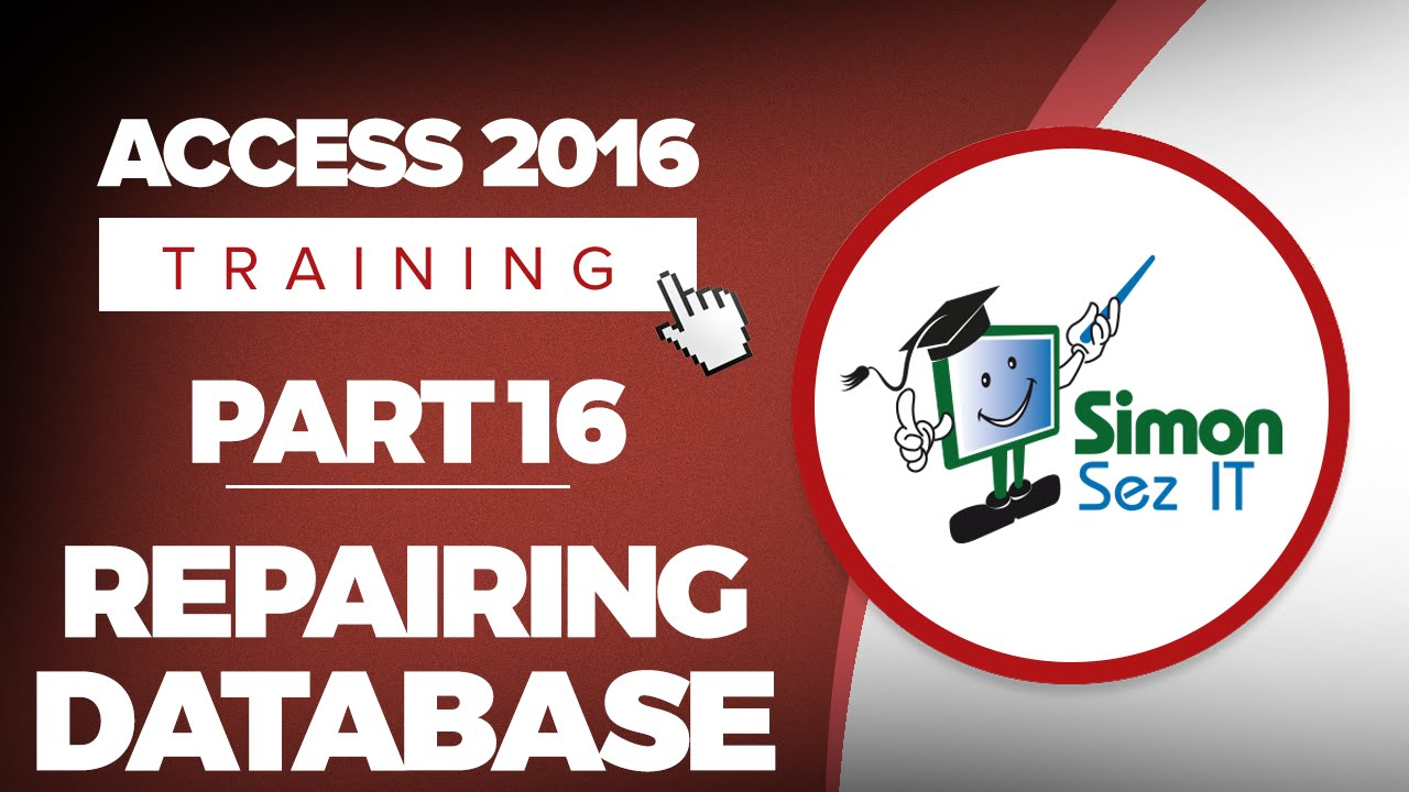 Access 2016 for Beginners Part 16: Compact and Repair an Access 2016 Database