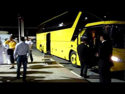 Maradona: Al Wasl team bus arrive at Al Ahli Dubai Stadium