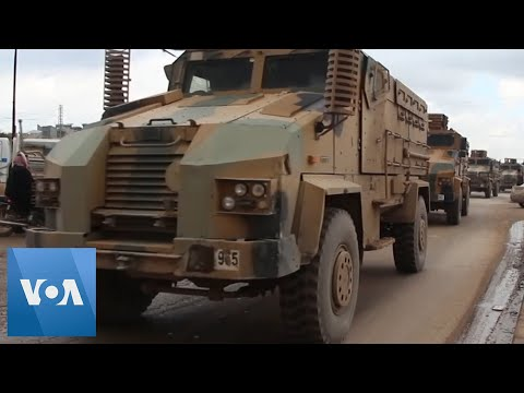 Turkish Convoy Seen Entering Northwestern Syria