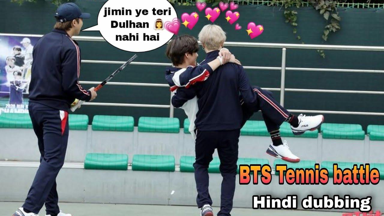 BTS Tennis 🎾 battle // Hindi dubbing// Part-1// bts run ep 130