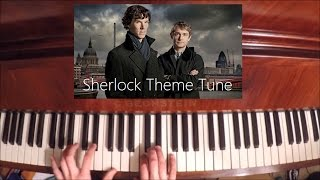 Sherlock (BBC) - Main theme - Piano cover/tutorial
