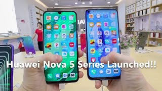 Huawei Nova 5 Nova 5i And Nova 5 Pro Launched New Kirin 810 Chip Quad Camera 40W Charging