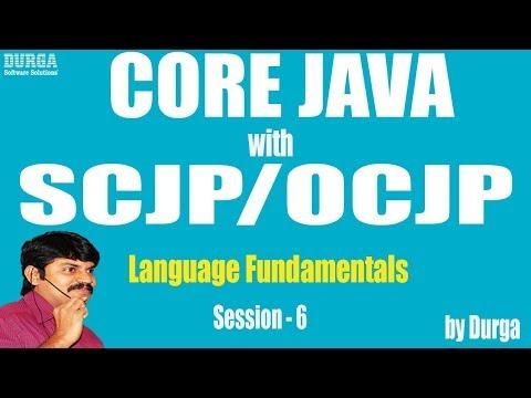 Core Java with OCJP/SCJP: Language Fundamentals Part-6 || Arrays Part-1