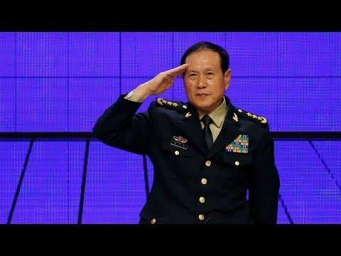 Chinese defense minister criticizes U.S. on trade war, Taiwan