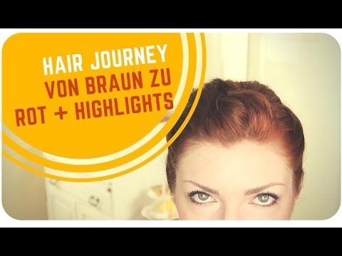 Hair Journey // Von Dunkelbraun zu Rot - mit Henna (+ Strähnchen)