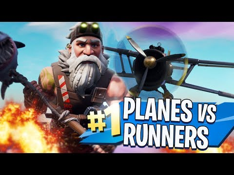 PLANES vs RUNNERS! in FORTNITE CREATIVE MODE!!
