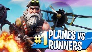 PLANES vs RUNNERS! in FORTNITE CREATIVE MODE!!