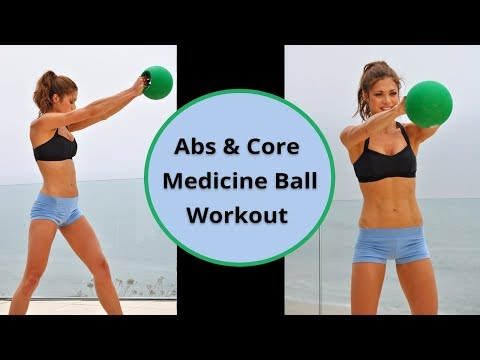 10-Min Beginner Abs & Core Medicine Ball Workout 70-120 Calories