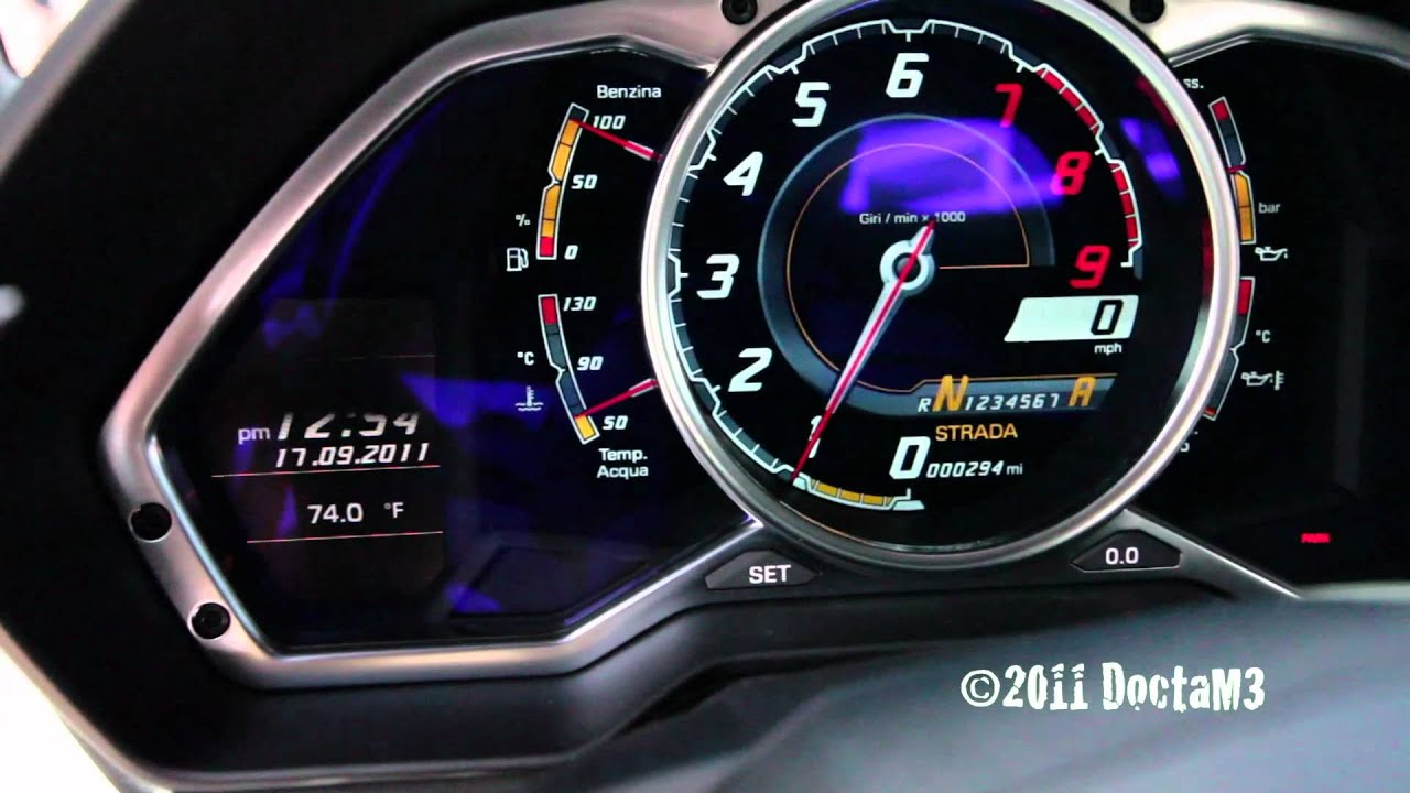 Lamborghini LP700-4 Aventador Dash View with Cold Engine ...