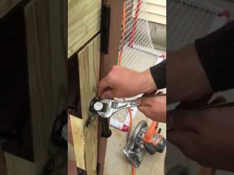 DIY how to install and adjust a pool fence gate spring