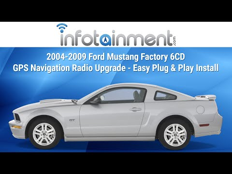 2004-2009 Ford Mustang Factory 6CD GPS Navigation Radio Upgrade - Easy Plug & Play Install