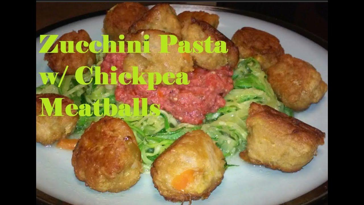 Zucchini Pasta & Chickpea MeatBalls w/Dr  Sebi's List